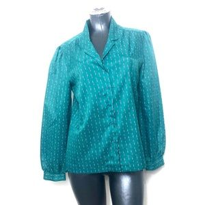 Vintage Late 70s Pattern Top Blouse